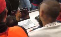 "VIDEO GENIAL! Un jucator de la Bayern a ""uitat"" de meciul cu Sevilla si s-a uitat la Real - Juve! Cum a reactionat dupa golul lui Cristiano Ronaldo"
