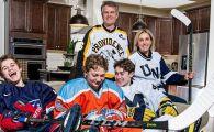 Povestea fascinanta a familiei in care toata lumea joaca hochei! Baiatul de 16 ani e asteptat in NHL