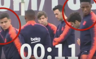 TENSIUNI la Barca dupa eliminarea din Champions League! Ce au facut Messi si Suarez la antrenament in fata colegilor. VIDEO