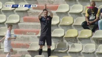 Imagini MONDIALE in Romania! Faza care face inconjurul Europei: cum s-a bucurat un jucator de la Sibiu dupa ce a dat gol