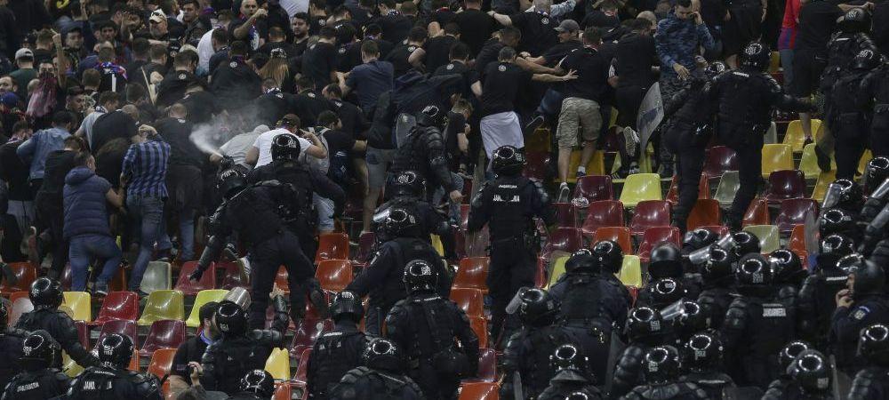 Bannerul de la care a pornit scandalul! Confuzie URIASA pe National Arena care a dus la interventia jandarmilor! FOTO