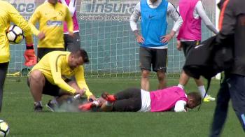 VIDEO COSMAR pentru Alibec: S-a accidentat din nou si e incert pentru meciul cu Astra. Alti doi titulari au probleme