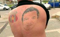 """""""Cand misc omoplatul, nea Gigi rade! Cand stau drept e serios!"""" FABULOS! Barbatul care si-a tatuat chipul lui Becali! De ce nu poate merge pe stadion"""