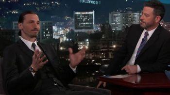"Zlatan s-a suparat rau la emisiunea lui Jimmy Kimmel :) Cum a reactionat cand acesta a spus ""soccer"" in loc de fotbal"