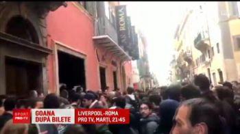 Goana dupa bilete! Roma vrea revansa dupa 34 de ani. Liverpool - Roma marti, ora 21:45, in direct la PRO TV