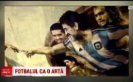 Fotbalul ca o arta: Messi si Maradona in capela sixtina! Capodopera unui artist din Argentina