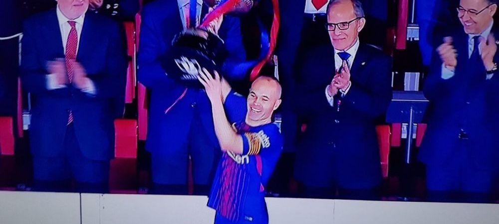 Sevilla 0-5 Barcelona, finala Cupei Spaniei! Catalanii fac SHOW si castiga primul trofeu al sezonului! Standing ovation pentru Iniesta