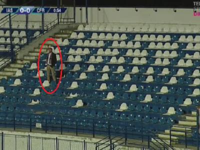 Imaginea etapei in Liga I: CFR Cluj a avut un singur suporter la meciul cu Poli Iasi
