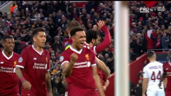 Rezumatul meciului Liverpool 5-2 AS Roma