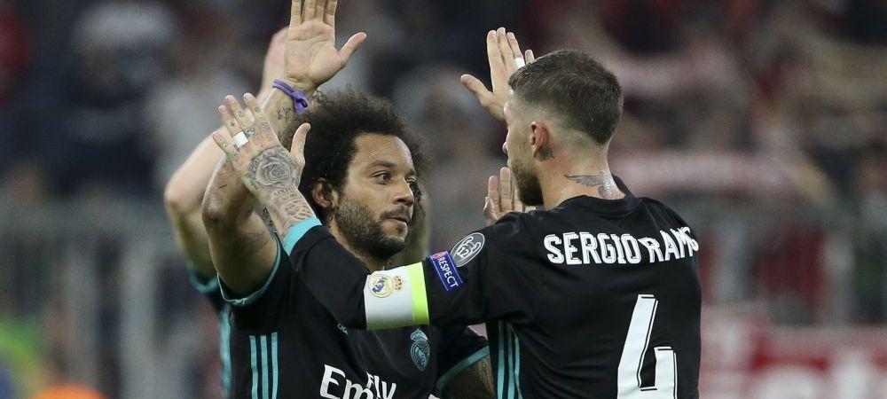 Gestul care NU s-a vazut in timpul meciului Bayern - Real! Ce au facut Sergio Ramos si Marcelo imediat dupa golul lui Kimmich