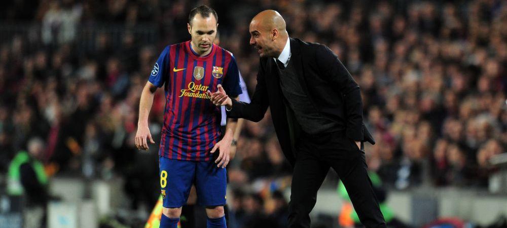 """M-a ajutat sa inteleg fotbalul!"" Mesajul superb al lui Pep Guardiola dupa ce Andres Iniesta si-a anuntat plecarea de la Barca! Ce i-a transmis"
