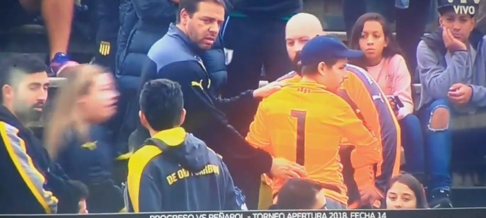 Imagini CIUDATE in Uruguay: au DEZBRACAT un suporter pentru ca nu aveau tricou pentru portar! VIDEO