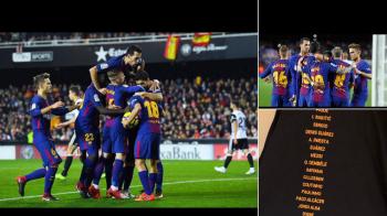 """GAFA OFICIALILOR BARCEI la bucuria pentru titlu: """"Si eu?"""" Jucatorul OMIS de pe tricoul de campion. FOTO"""