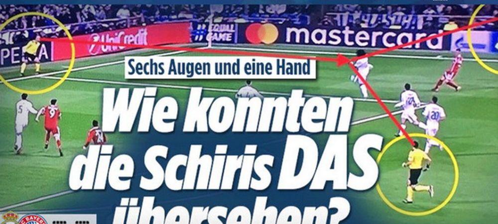 """Cum de nu au vazut? Sase ochi si o singura mana!"" Nemtii ofera DOVADA clara ca Bayern a fost dezavantajata cu Real! Ce scriu cei de la Bild"