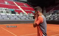 """""""Vai, Doamne! Cata bucurie!"""" Reactia fenomenala a lui copil din mingi din Madrid care a jucat tenis cu Simona Halep! VIDEO"""