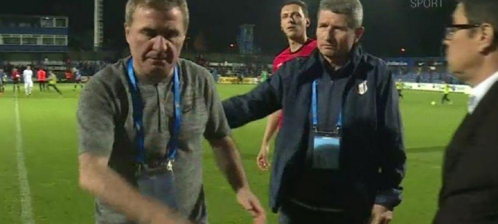 """""""Hai, ma, lasa-ma in pace! Asta e vrajeala"""". Reactia lui Hagi in momentul in care Multescu s-a dus la finalul meciului sa-i stranga mana"""