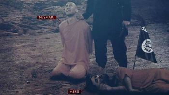 Cutremurator! Teroristii ISIS fac propaganda jihadista inaintea Mondialului si ii intruchipeaza pe Neymar si Messi inaintea executiei