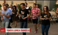 S-a dansat ca in povesti azi in Bucuresti! Harap Alb si Ileana Cosanzeana au luat lectii de dans in aer liber