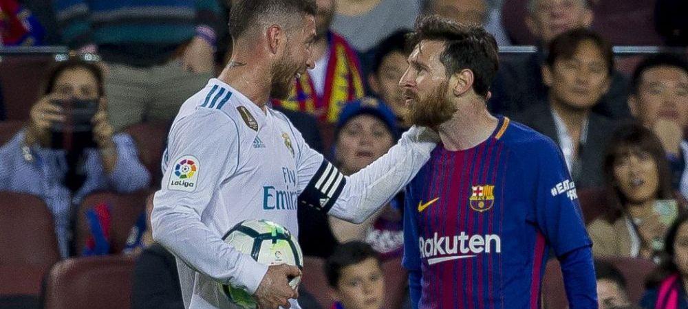 """Sergio Ramos a sarit la gatul lui Messi dupa El Clasico: """"Nu stiu daca au surprins camerele ce a facut!"""" Gestul lui Messi dupa eliminarea lui Sergi Roberto"""