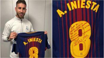 Andres Iniesta i-a dat lui Sergio Ramos tricoul de la ultimul sau El Clasico! Ce mesaj emotionant i-a scris capitanului de la Real