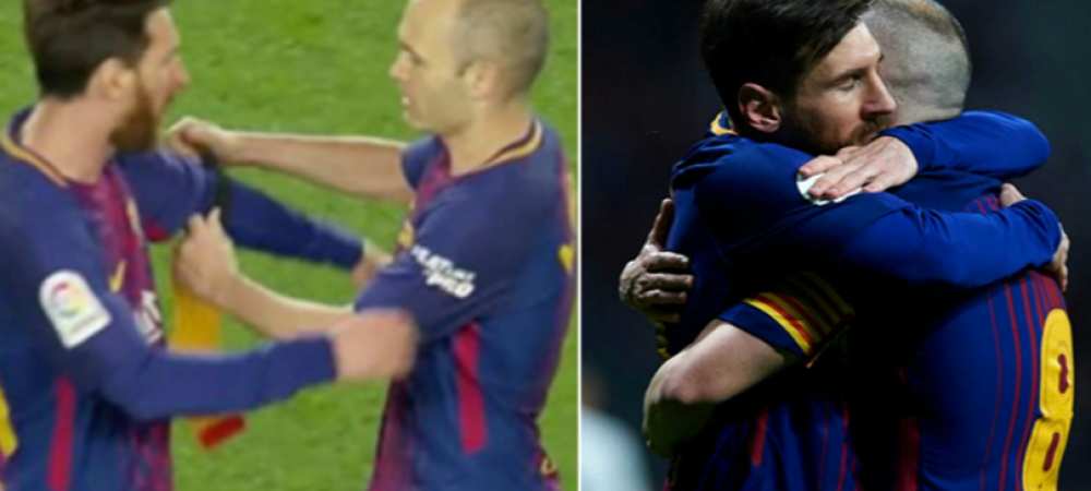 Spaniolii i-au citit pe buze! FABULOS! Ce i-a spus Iniesta lui Messi in momentul in care i-a dat banderola, la ultimul El Clasico