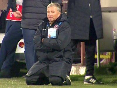 """Cum a reactionat Dan Petrescu la golul care ii poate aduce titlul! Clujenii vad deja trofeul: """"Depindem doar de noi"""""""