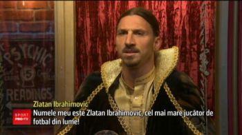 """""""Numele meu e Zlatan Ibrahimovic si sunt cel mai bun fotbalist din lume!"""" Cum a castigat Ibra... 20 de dolari intr-un show TV din America"""