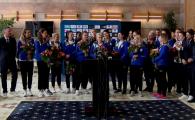 """CSM, primire la Salonul Prezidential! Mesajul fetelor pentru conducerea clubului: """"Avem nevoie de stabilitate ca sa invingem Gyor!"""""""