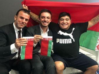 Maradona este noul presedinte al lui Dinamo... Brest :) Nu e gluma! Legenda Argentinei a semnat cu echipa din Belarus   FOTO