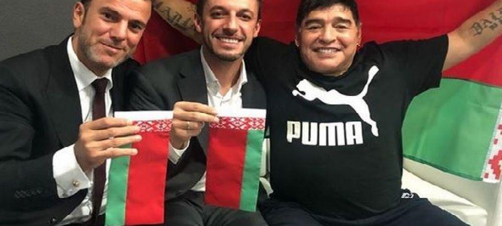 Maradona este noul presedinte al lui Dinamo... Brest :) Nu e gluma! Legenda Argentinei a semnat cu echipa din Belarus | FOTO