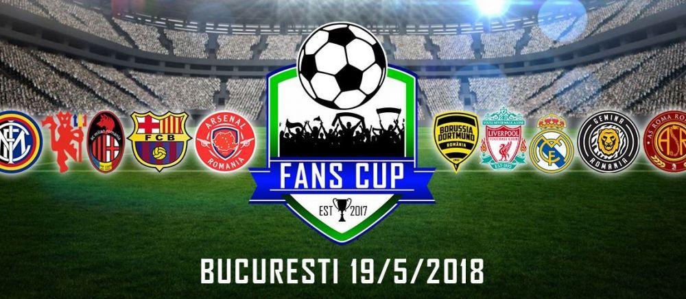 Fans Cup 2018 // Sambata, suporterii invadeaza terenul! Ce echipe participa la cea de-a doua editie
