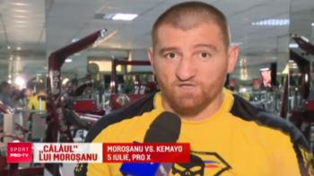 Morosanu se pregateste ca un spartan pentru revansa in fata lui Kemayo! Preparatorul sau fizic il lasa lat dupa antrenamente. VIDEO