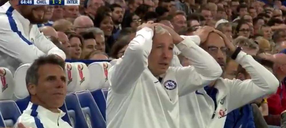 Dan Petrescu si Chivu, pe teren la partida legendelor lui Chelsea si Inter! Antrenorul CFR-ului a facut din nou SHOW pe banca: de ce si-a pus mainile in cap