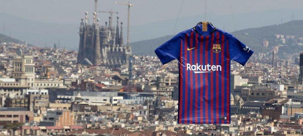 Barcelona a prezentat oficial noul tricou pentru sezonul viitor! L-au adus cu DRONA in unul dintre cele mai spectaculoase locuri din oras! VIDEO