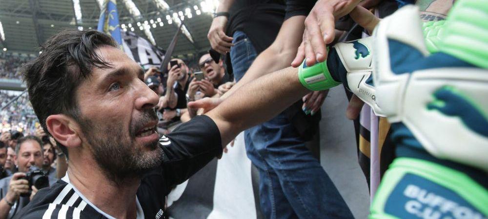 Adio, Buffon! Ultimele secunde ale lui Buffon la Juve: lacrimi in tribune, scene emotionante pe teren! VIDEO