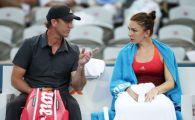 """""""MA OMOARA! PARCA MI-E FRICA SA SERVESC"""" Simona Halep, daramata dupa primul set al meciului cu Sharapova. Ce i-a spus lui Darren Cahill"""