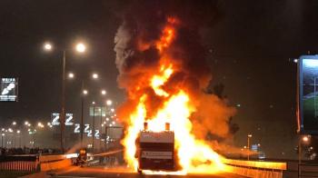 Imagini incredibile! Sarbatoarea de titlu a sarbilor de la Steaua Rosie, intrerupta dupa ce autocarul le-a luat foc