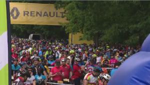 Prima evadare // 3000 de ciclisti au evadat azi spre Snagov: 50 km de distractie prin paduri si noroi VIDEO