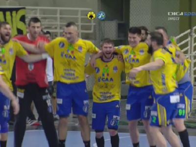 Super performanta! Potaissa Turda a castigat trofeul Challenge Cup dupa ce a invins in finala AEK Atena