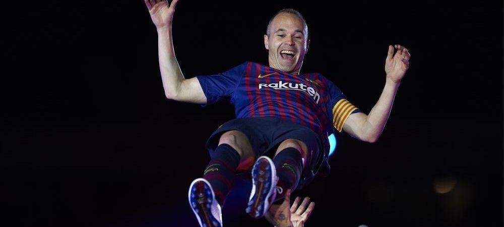 Iniesta uimeste lumea fotbalului cu gestul sau. 'Magicianul' catalanilor si-a luat adio de la FC Barcelona intr-un mod unic