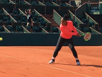 De la nunta direct pe teren! Serena Williams a ajuns la Roland Garros cu o saptamana mai devreme si ameninta suprematia Simonei Halep! VIDEO