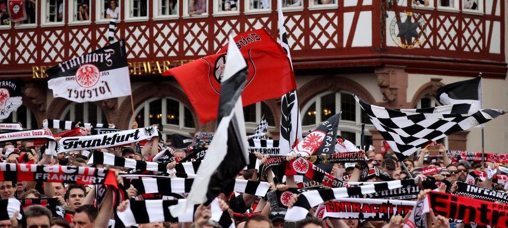 Imagini FABULOASE la Frankfurt! Cum au sarbatorit fanii lui Eintracht victoria MAGICA in fata lui Bayern din Cupa Germaniei