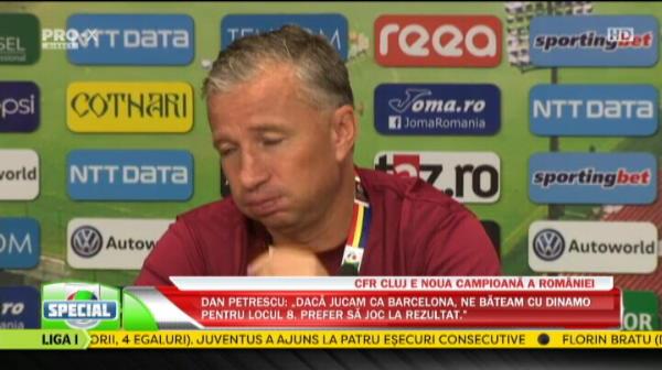"""""""Vreau sa RAMAN! Nu stiu ce ne faceam daca nu era Iasiul! Vrem in grupele Europa League!"""" Reactia lui Dan Petrescu dupa ce a devenit CAMPION cu CFR"""