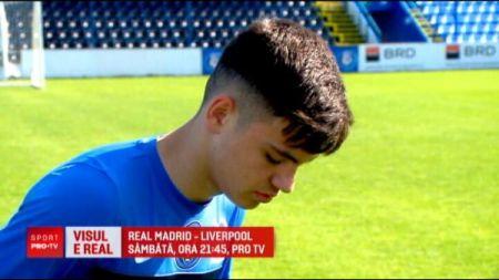 Hagi trimite un junior la finala UEFA Champions League:  La 18 ani sper sa joc in Liga Campionilor!  Real - Liverpool, IN DIRECT la ProTV, sambata, ora 21:45