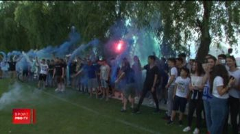 Atmosfera de senzatie la antrenamentul Craiovei! Oltenii pregatesc deja autocarul descoperit pentru marea sarbatoare de dupa FINALA Cupei
