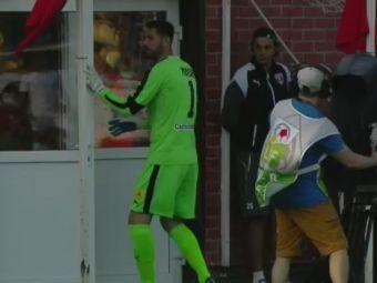 FOTO IREAL   Ai crede ca Minca a fost eliminat, dar te-ai insela amarnic :)) Motivul FABULOS pentru care portarul lui Mutu s-a dus la vestiare in timpul meciului