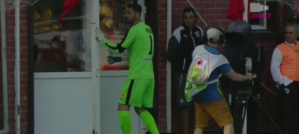 FOTO IREAL | Ai crede ca Minca a fost eliminat, dar te-ai insela amarnic :)) Motivul FABULOS pentru care portarul lui Mutu s-a dus la vestiare in timpul meciului