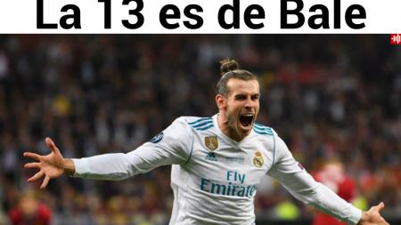 Trofeul 13 adus de Bale!  Spaniolii, la picioarele Realului! Presa catalana:  Karius le-a facut Cupa cadou!  FOTO