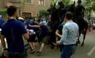 Fan al Craiovei, DARAMAT DE CALUL jandarmilor la Bucuresti! Incidente inainte de finala Cupei! VIDEO