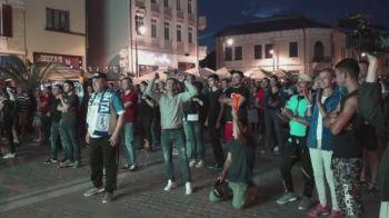 Nebunie pe Arena Nationala, nebunie si in Craiova! VIDEO | Fanii Craiovei au urmarit finala cu sufletul la gura: imaginile bucuriei de la final